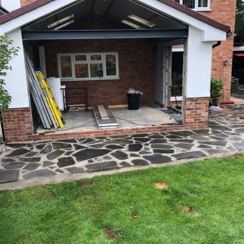 Crazy paving installation, Chelmsford