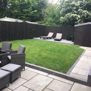 Full garden landscape in Chelmsford, Essex