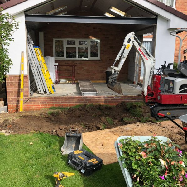 Micro digger hire, Chelmsford, Essex