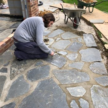 Crazy paving installation Chelmsford