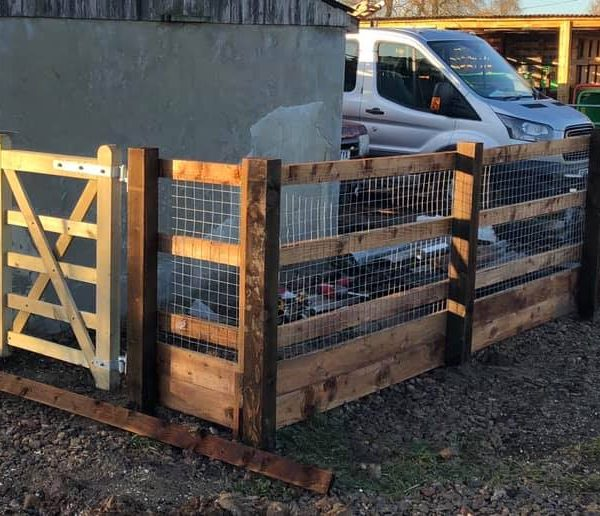 Post and rail fencing Chelmsford