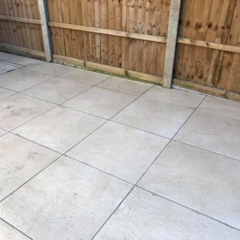 Porcelain patio installation in Chelmsford, Essex