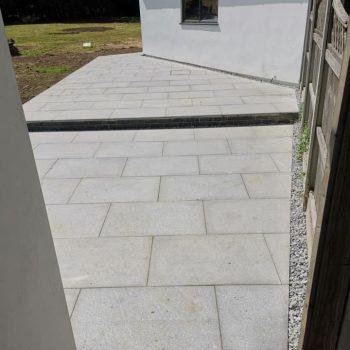 Grey granite patio in Chelmsford, Essex