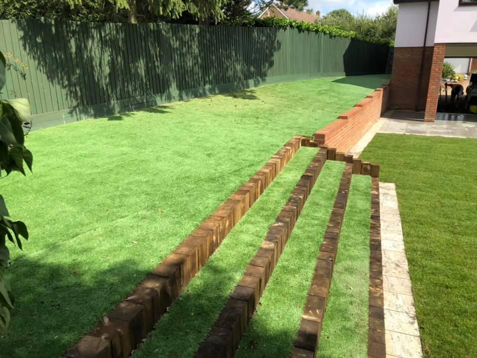 Full garden landscape in chelmsford