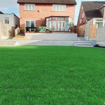 Full garden landscape in Essex