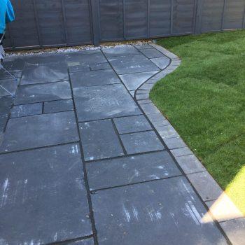Black Limestone patio