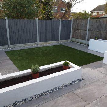 Porcelain patio installation in Chelmsford, Essex